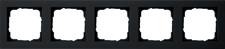 Gira E2 - Afdekraam 021509 Zwart mat