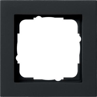 Gira 021109 - afdekraam 1-voudig e2 zwart mat