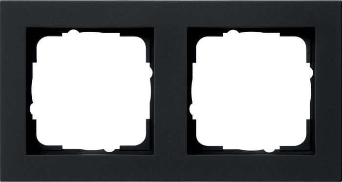 Gira 021209 - afdekraam 1-voudig e2 zwart mat