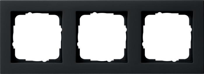 Gira 021309 - afdekraam 1-voudig e2 zwart mat
