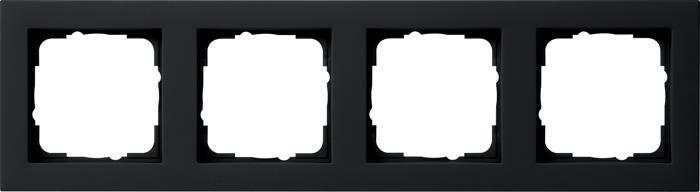 Gira 021409 - afdekraam 1-voudig e2 zwart mat