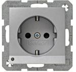 Hager Berker S1 aluminium - wandcontactdoos 41091404