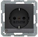 Hager Berker S1 antraciet - wandcontactdoos 41091606