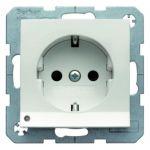 Hager Berker S1 polarwit glanzend - wandcontactdoos LED 41098989