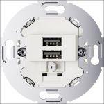 Hager Berker Serie Polarwit USB- 26002089