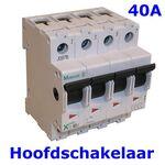 HOOFDSCHAKELAAR 4POLIG 40A