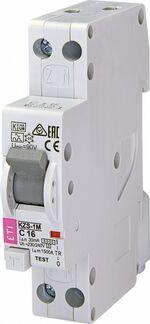 ETI KZS-1M aardlekautomaat, 16A - 1P+N, 30mA, karakteristiek: C - 432000214