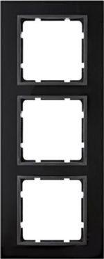 Hager Berker B7 glas zwart/antraciet - afdekraam 10136616